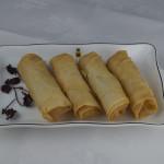 Garlic prawn spring rolls