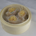 Golden dried scallop dumplings